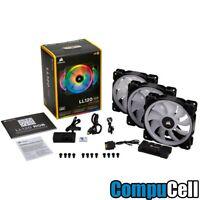 Corsair LL Series LL120 RGB 120mm Dual Light Loop RGB LED PWM Fan 3 Fan Pack