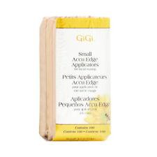 GiGi Small Accu Edge Applicators for Facial Waxing 100 Sticks Brand New