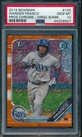 PSA 10 WANDER FRANCO 2019 Bowman Chrome ORANGE SHIMMER REFRACTOR /25 RC GEM MINT