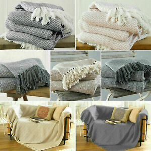 Large & XL Cotton Traditional Como Safi Blanket Home Chair / Sofa / Bed Throws
