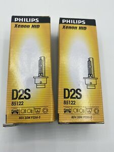 Phillips Xenon HID D2S Headlight Bulb Set Of Two