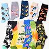 Fashion Men Women Socks Combed Cotton Animal Fruit Bird Casual Happy Socks Funny