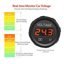 Universal DC 12V LED Display Waterproof Voltmeter Voltage for Boat Marine Car JK