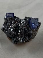 Purple Fluorite On Sphalerite Matrix   Elmwood Mine, Tennessee