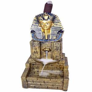 Egyptian Temple Pharaoh Incense Holder Backflow Smoke Cone Incense Burner Censer