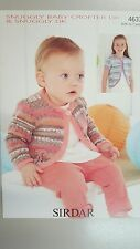 Sirdar Knitting Pattern #4633 Baby & Child's Cardigan in Snuggly Baby Crofter DK