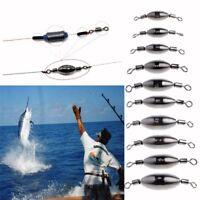 5pcs Swivel Fishing Hook Connector Solid Rings Copper Sinker Ball Bearing