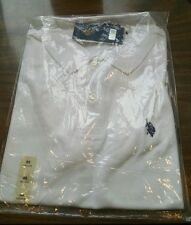Men's White U.S. POLO ASSN. Shirt - Size Medium - Short sleeve