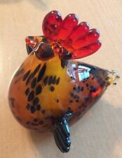 Colorful Glass Chicken Paper Weight