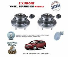 FOR DODGE JOURNEY 2.0DT 2.4 6/2008-> NEW 2 X FRONT WHEEL BEARING KIT WITH NUT