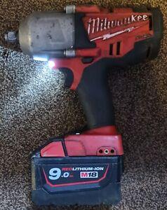 MilwaukeeM18 Fuel CHIWF12-0 Impact Wrench 1/2in + 9.0Ah Milwaukee Battery