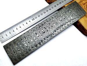 TITANs 25x5cm Premium Damascus Steel Billet Bar Knife Making Craft Ladder AUC