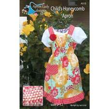 """THE APRON LADY """"CHILD'S HONEYCOMB APRON"""" Sewing Pattern"""