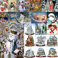 Christmas& Halloween Diamond Painting Embroidery DIY 5D Partial Drill Cross Gift