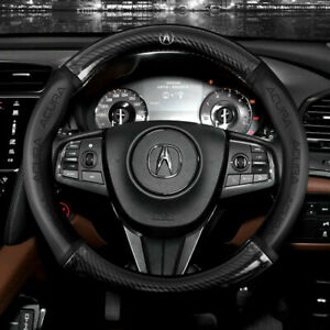 "15"" Car Steering Wheel Cover Genuine Leather For Acura"