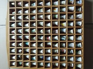 100 Thimbles In Wooden Case