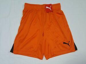 Puma Boys Youth Sports Gym Shorts Orange  Team sports sz Small Orange