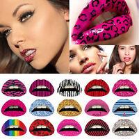 3/9/15Pcs Temporary Lip Tattoo Sticker Art Transfers Lady Party Dress Up 5HUK