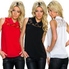 Damen-Blusen ärmellose hüftlange Damenblusen, - tops & -shirts ohne Muster