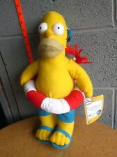 HOMER SIMPSON w/ crab NWT plush doll FOX cartoon toy 2015 inner tube swimming
