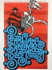 Pearl Jam - 2013 Ames Bros Poster Santiago, Chile Lollapalooza S/N