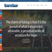 Fully Stocked Dropshipping FISHING STORE Website Business For Sale + Domain