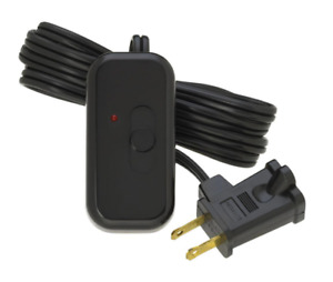 Lutron Credenza 300-Watt Plug-In Table Floor Lamp Light Dimmer w/ LED in Black