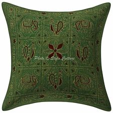 Handmade Elephant Sofa Cushion Cover Ari Embroidered Pillow Case Cover Throw