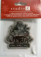 Merry Christmas  Unmounted Cling Rubber Christmas Stamp Hampton Art  NIP