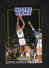 Notre Dame Fighting Irish--1994-95 Basketball Pocket Schedule
