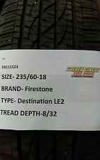 used Firestone Destination LE 2 235/60-18 235 60 18 2356018 235/60/18 2356018