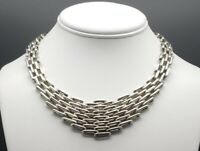 Vintage Taxco Modernist Sterling Silver Collar Necklace With Matching Earrings !