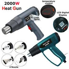 2000W Dual Temperature Hot Air Gun Shrink Paint Stripper Rework DIY Tool +Nozzle