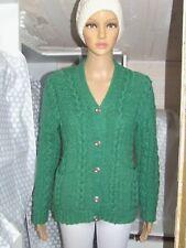 56bf5249fcac Superbe pull gilet vert et style Irlandais tricoté main PHILDAR laine  taille 38