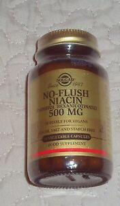 Solgar No Flush Niacin - 500mg - 50 Vegetable Capsules - BBE 09/22