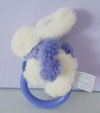 Doudou et compagnie lapin blanc hochet Pompon Lavande Neuf