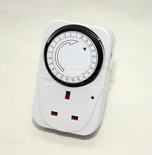 2X 24hr plug-in timer interrupteur mécanique sécurité lumière chauffage intervalle lampe n