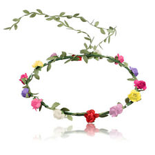 Boho Lady Girl Floral Flower Festival Wedding Garland Forehead Hair Head Band