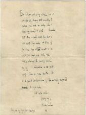 Hall Caine Autographed Poignant Letter Signed 1928 / Novelist