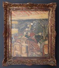 Café in Paris bei Nacht,Impressionist,signiert,1928