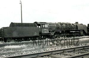 Original Dampflok NEGATIV - 45 016 (Bw Würzburg) in Würzburg, 1957