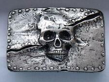 Gürtelschnalle Schnalle Schließe Buckle  4,5 cm altsilber  NEU rostfrei #515a#