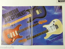 retro magazine advert 1983 IBANEZ roadstar series , double page