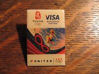 United Airlines Olympic Pin - Beijing China 2008 Olympics Games Visa Lapel Pin