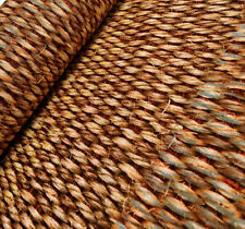 BROWN SISAL WICKER Fabric Curtain Upholstery Cotton Canvas Material - 63'' wide