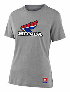 Troy Lee Designs Women's Honda Retro Victory Wing Tee Athletic Heather All Sizes