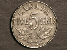 CANADA 1925 5 Cents - Key Date