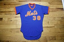 1980's New York Mets game used jersey minor league size 42 all sewn on !