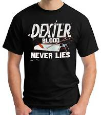 Camiseta Hombre Dexter Blood Never Lies t-shirt - camiseta chico manga corta tv