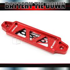14cm Car CNC Billet Aluminum Lightweight Battery Tie Down Bar Stand BrACKET Red